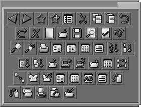TwoHipDudes Toolbar Icons Grey