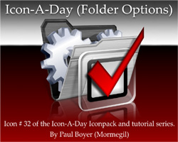 Icon-A-Day #32 (Folder Options)