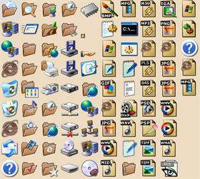 Brown XP Folders