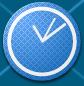 GuideSign Clock Blue