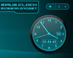 Sirus Sidebar Clock