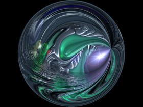 Alien water globe