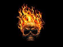 Flamin Skull by ANARKYMAN