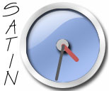 Light Blue Satin Clock