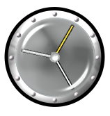 Metallic clock