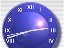 Blue Clock in the Sun