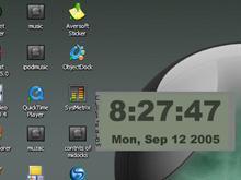 Digital glow clock