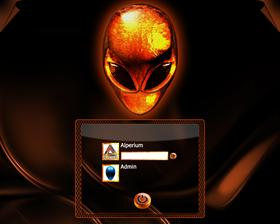 AlienWare Fire Logon