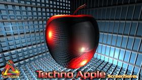 Techno Apple Screen Saver
