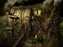 Steam Punk Dragon_Industry_wallpak