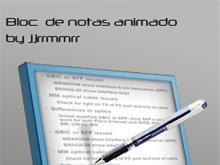 notepad animated
