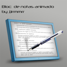 notepad animated