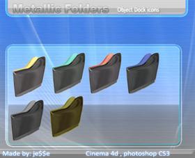 metallic folders