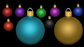 Christmas Tree Ornament Multi Color