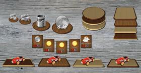 Wood tiles & tray