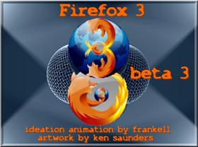 """Firefox 3 beta3"" Animated"