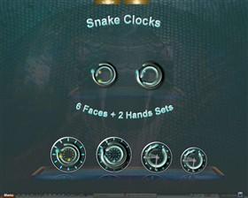 Snake Clocks Docklets Hands and Faces
