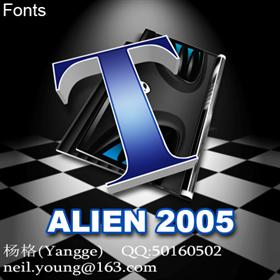 ALIEN 2005 (Fonts)