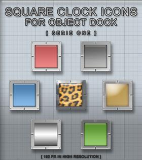 Square Clocks Serie One For OD