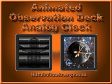 Observation Deck Analog Clock