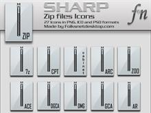 SHARP Zip Icons