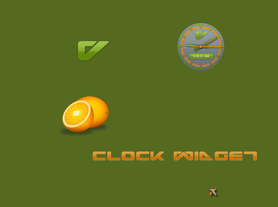 V Clock Widget