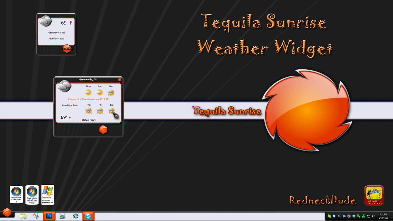 Tequila Sunrise Weather Widget