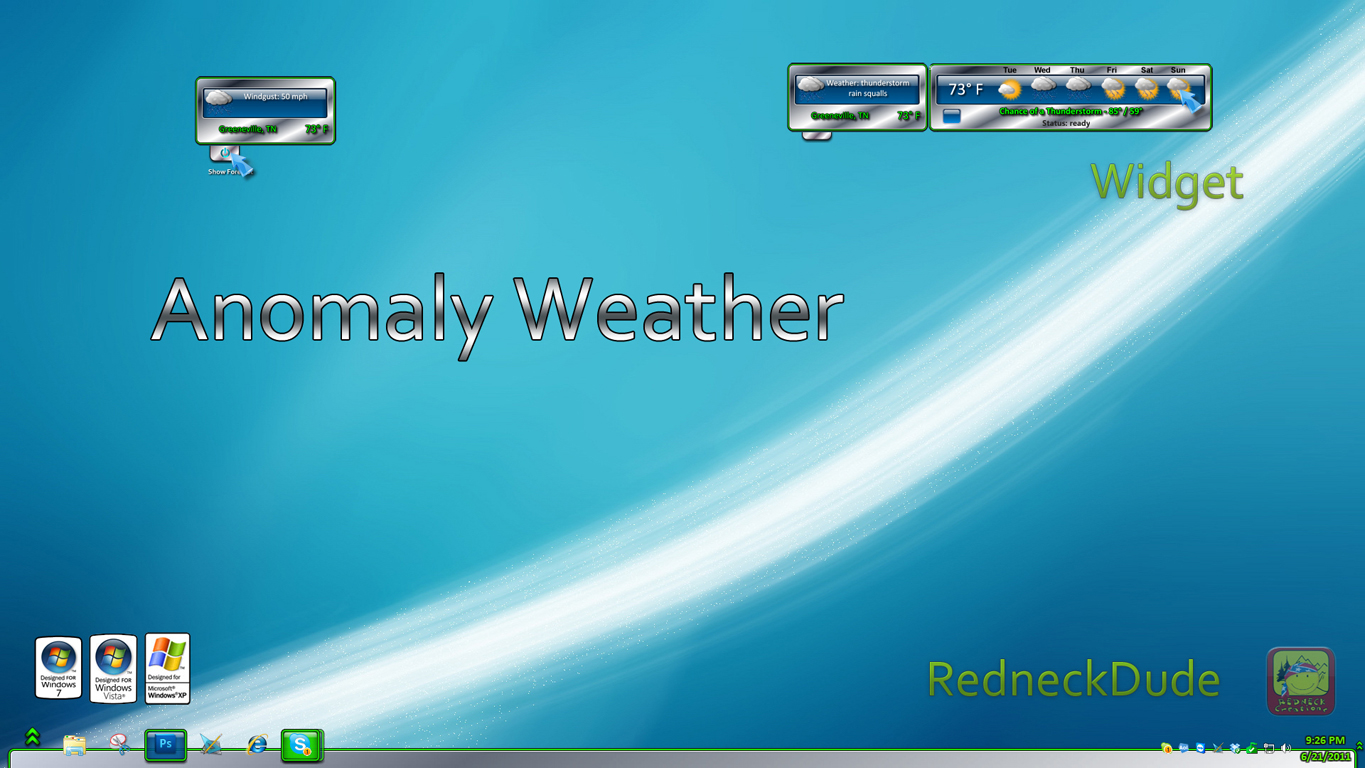 Anomaly Weather Widget