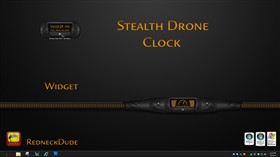 Stealth Drone Clock Widget