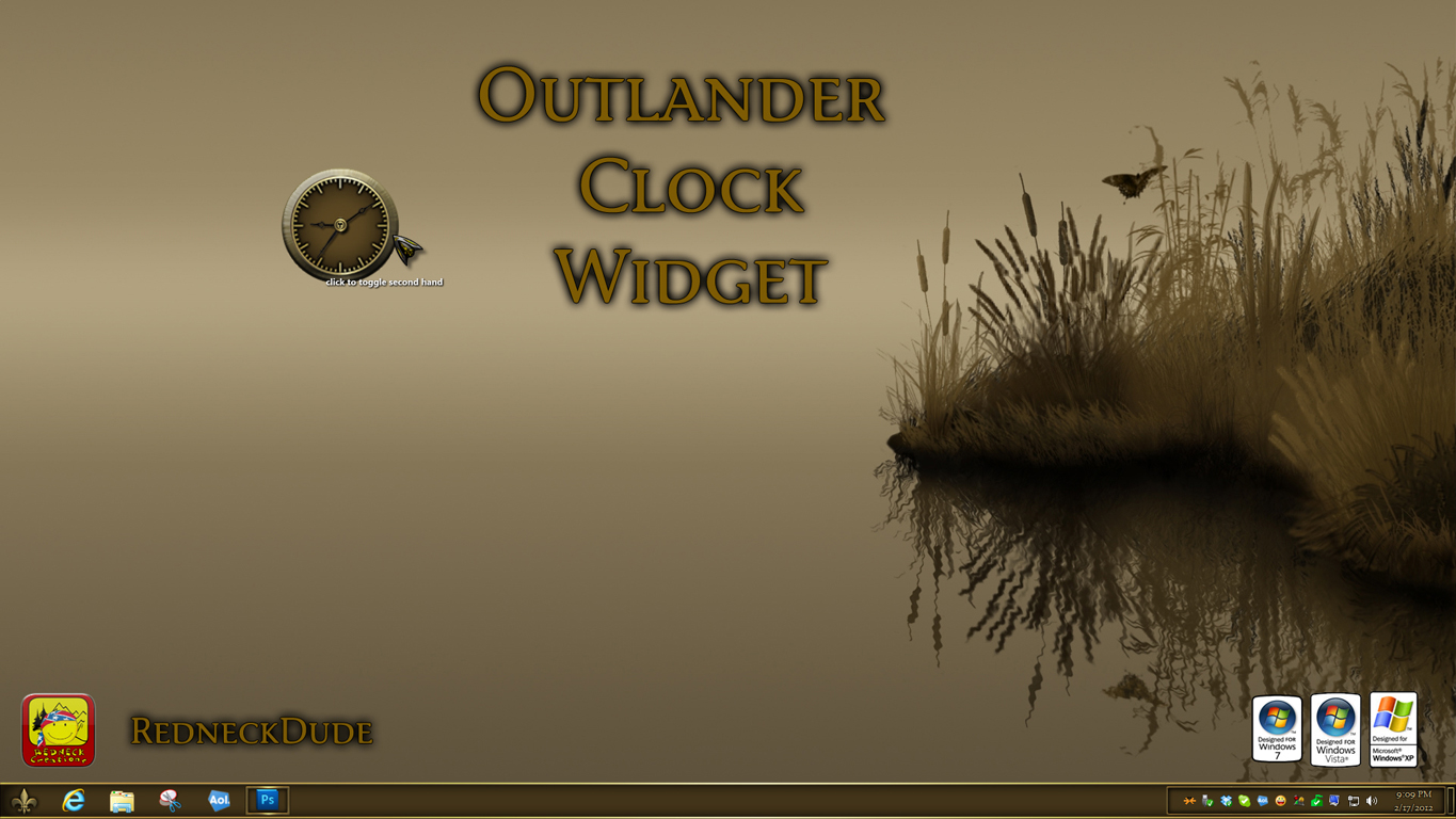 Outlander Clock Widget