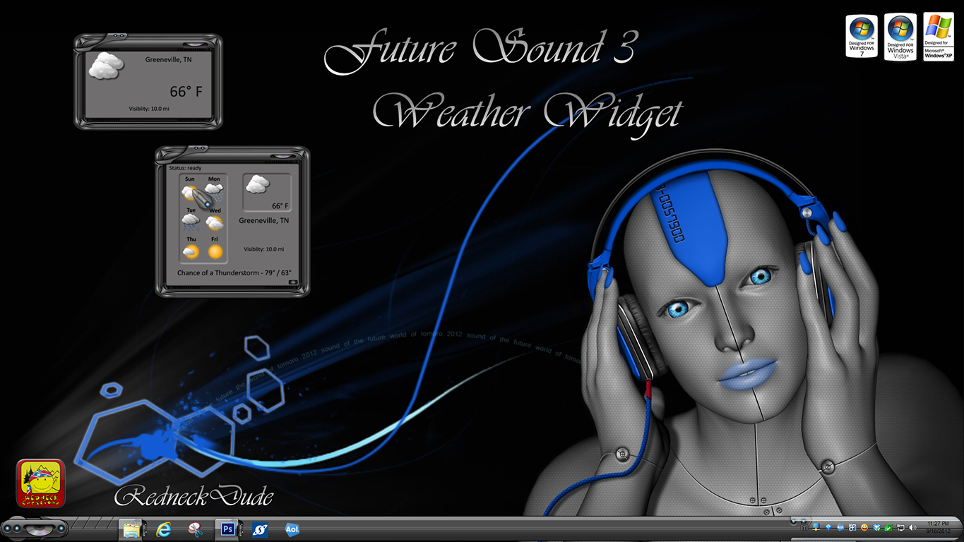 Future Sound 3 Weather Widget