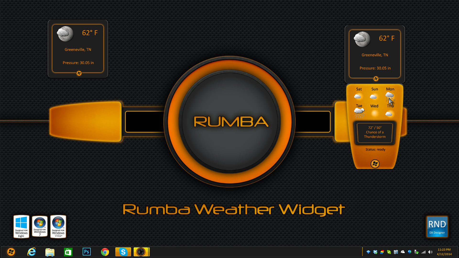 Rumba Weather Widget