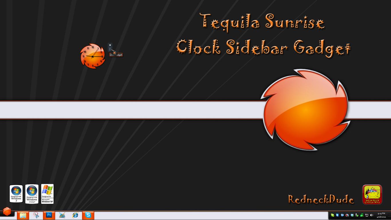 Tequila Sunrise Clock Sidebar Gadget