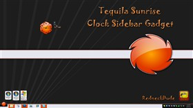 Tequila Sunrise Clock Sidebar Gadget