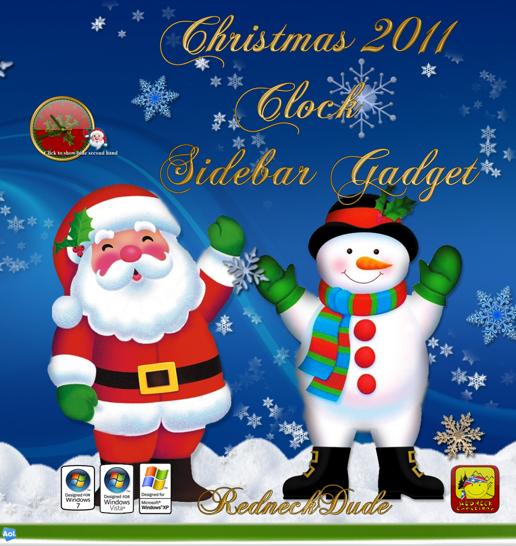 Christmas 2011 Sidebar Clock Gadget