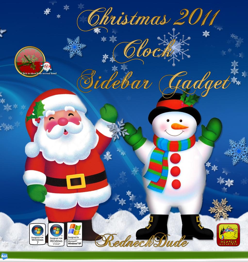 Christmas 2011 Sidebar Clock Gadget
