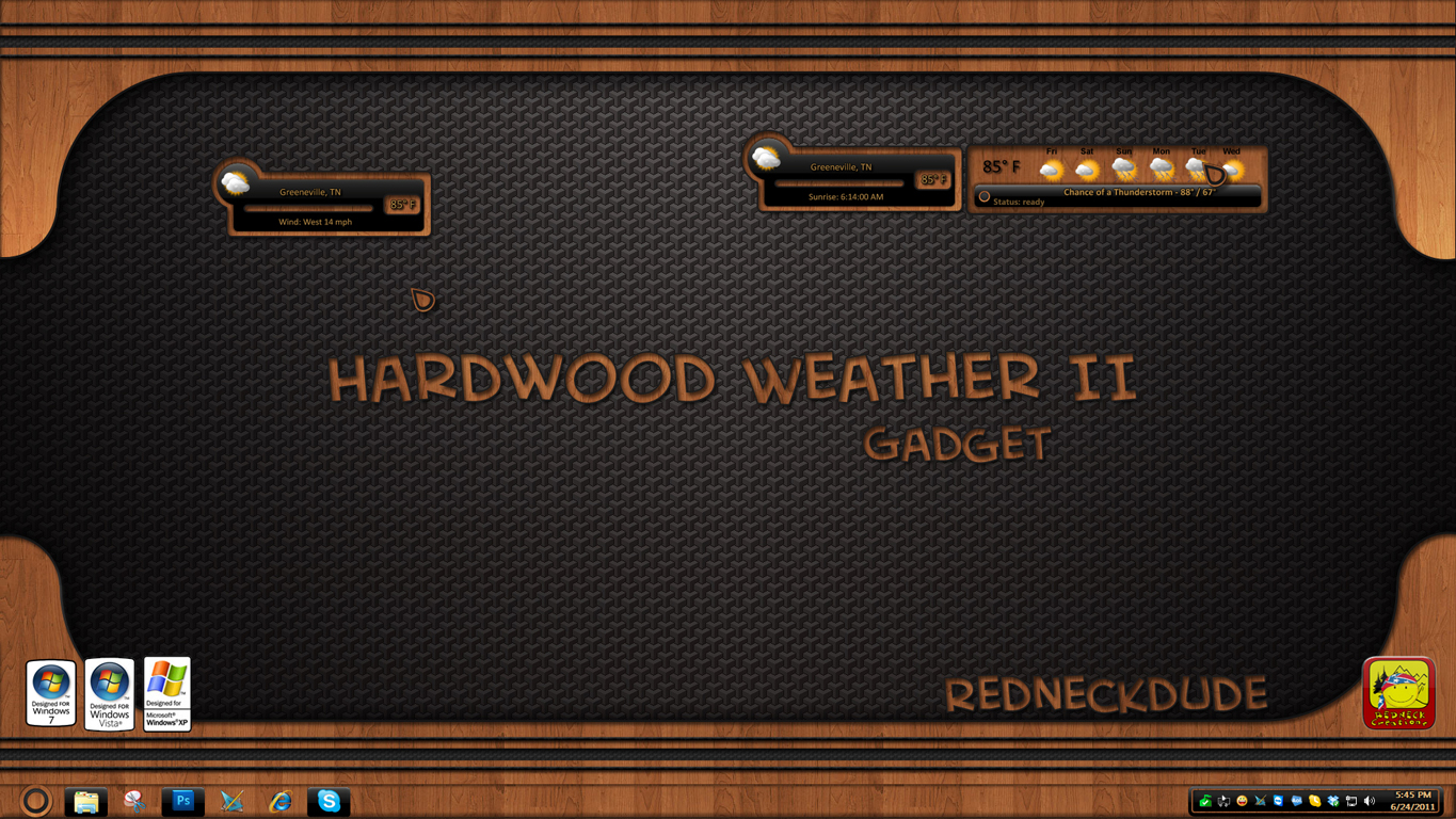 Hardwood Weather Gadget II