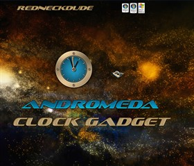 Andromeda Clock Gadget
