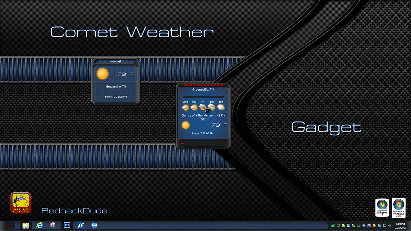 Comet Weather Gadget
