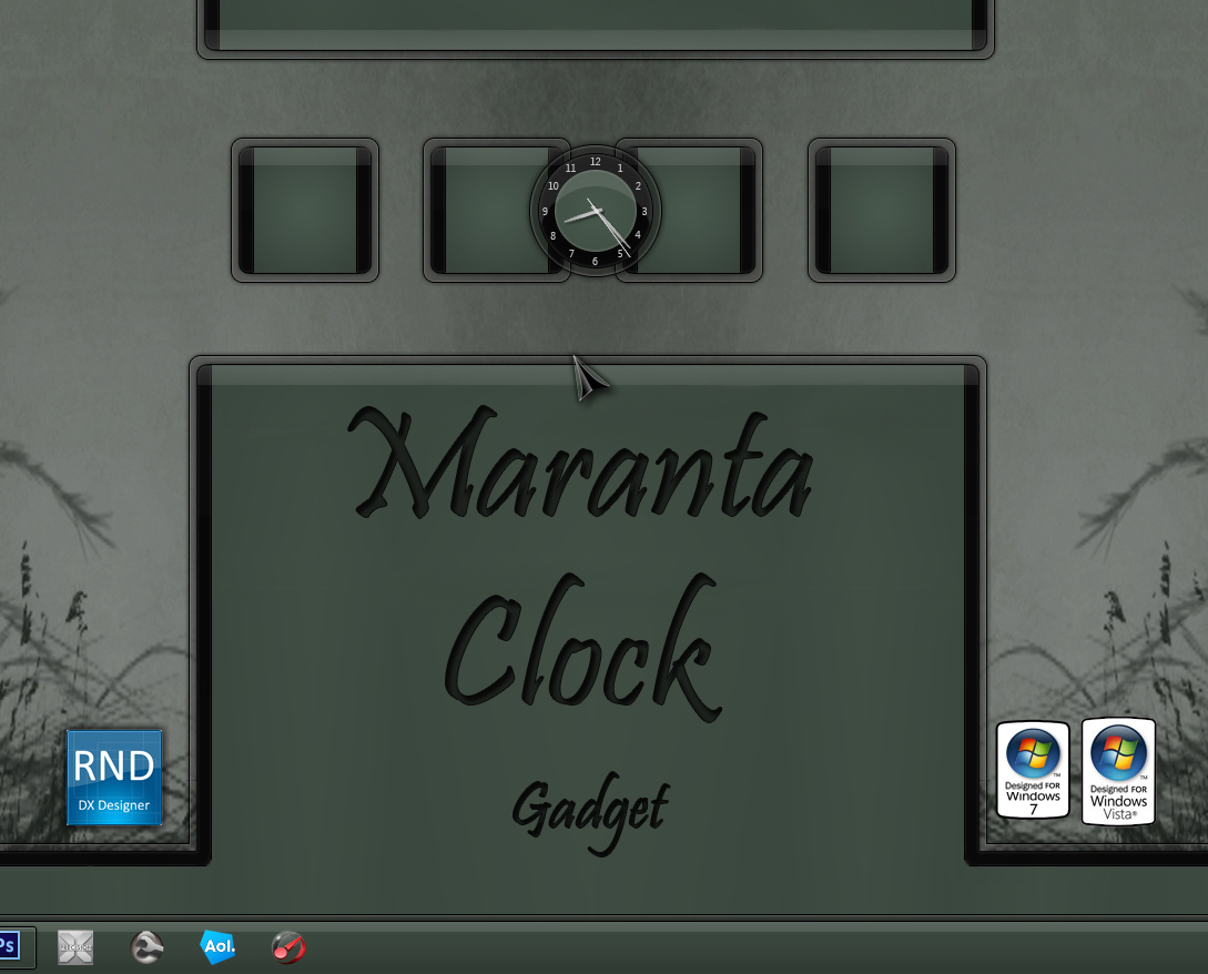 Maranta Clock Gadget