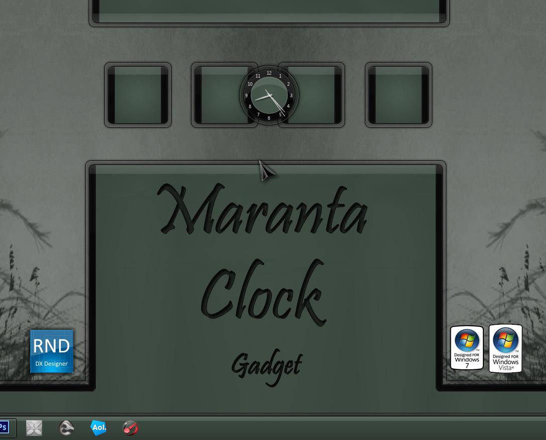 Maranta Clock Gadget