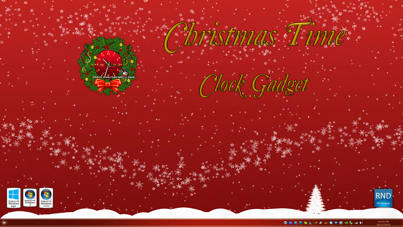 Christmas Time Clock Gadget