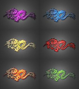 tribal dragon color pack