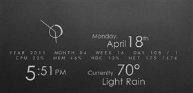 Elementary Rainmeter 1.3
