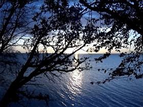 sunset bluelake