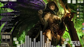 Avenging Angel Desktop for Rainmeter