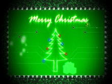 Christmas Circuit Board