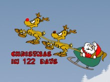 Santa Sleigh Countdown Gadget