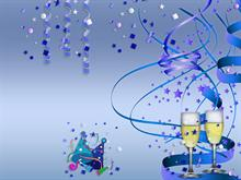 Happy New Year 2010 Blue