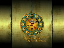 Slytherin House Clock 3.2
